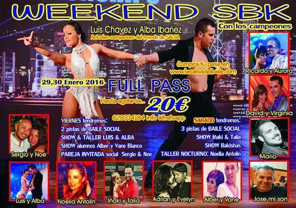 WEEKEND SBK only 20€ with the salsa world champions