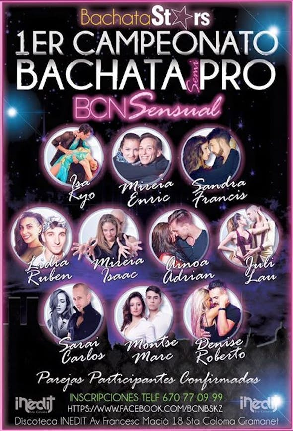1a ELIMINATORIA COMPETICIÓN BACHATA semi-PRO