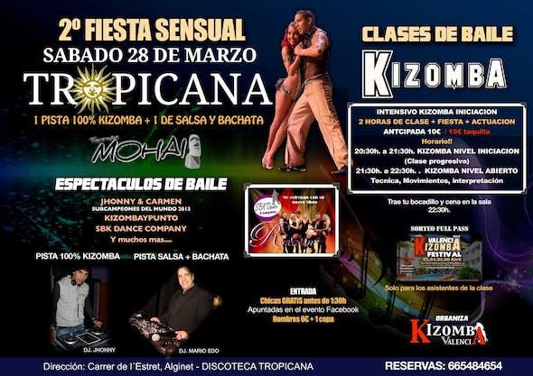 2ª FIESTA SENSUAL - Clases y Baile Social KIZOMBA