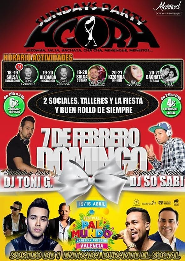 LISTA VIP DOMINGO 7 Sundays Agora Party