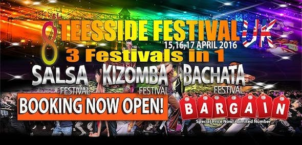 Teesside Salsa & Kizomba & Bachata Festival UK 2016 (8th Edition)