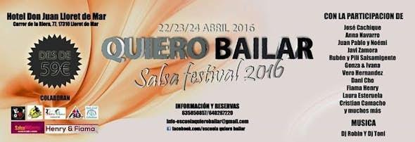 Quiero Bailar Salsa Festival 2016 sólo 59€