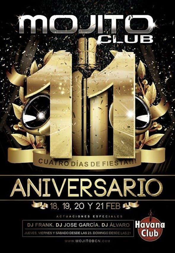 11º Aniversary Mojito Club Barcelona - 4 nights - 4 parties!