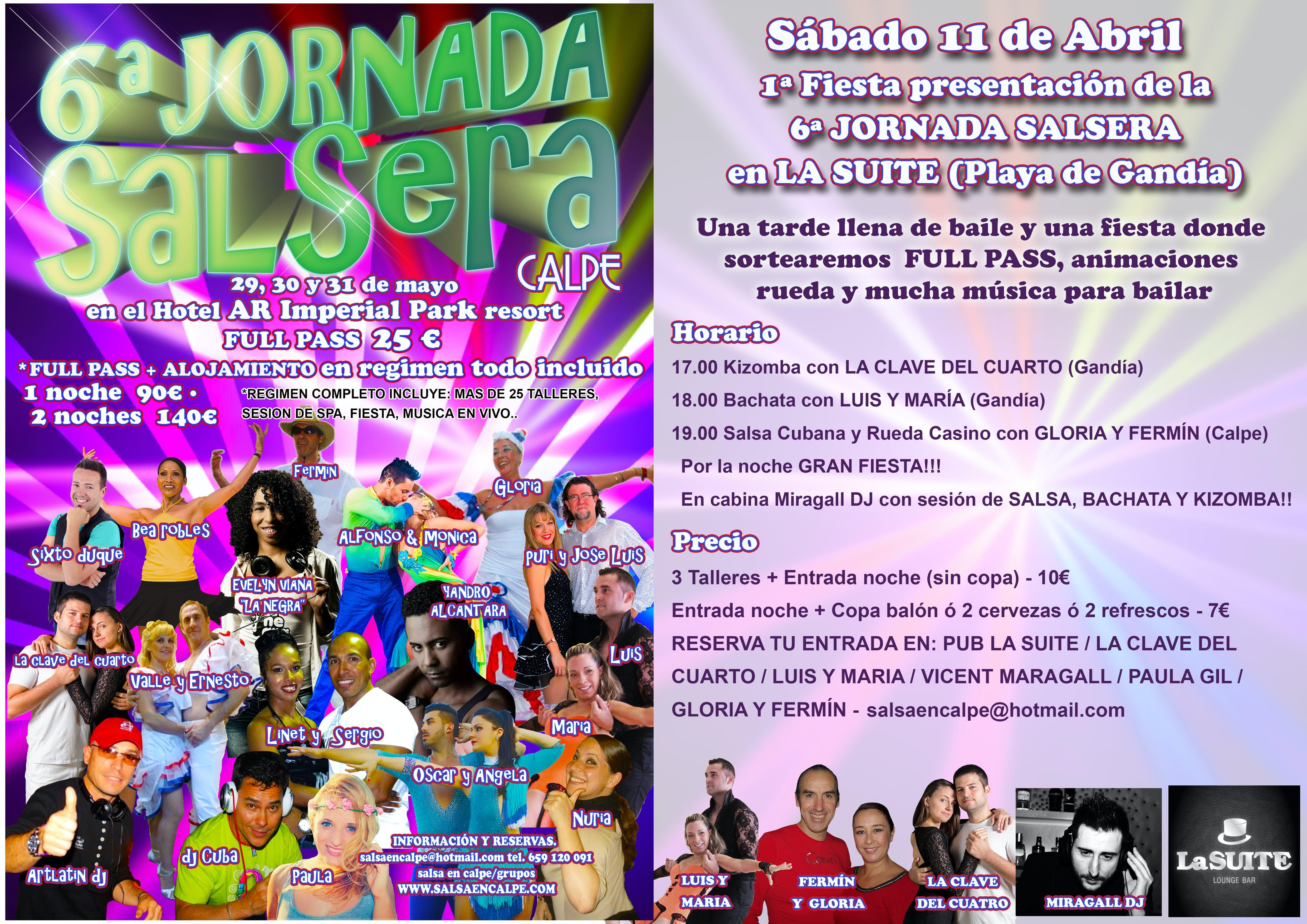 GRAN FIESTA Y TALLERES EN LA SUITE GANDIA PRESENTACIÓN 6ª JORNADA ...