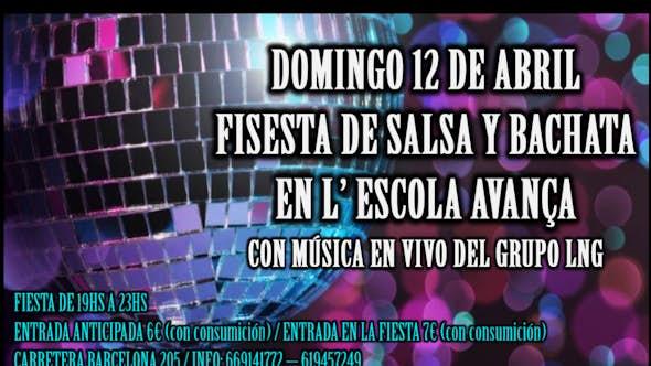 Festa de Salsa i Batxata a l'escola Avança amb música en viu!!