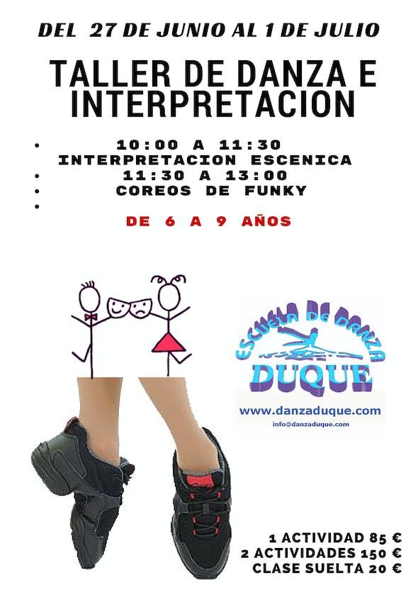 TALLER DE DANZA E INTERPRETACION