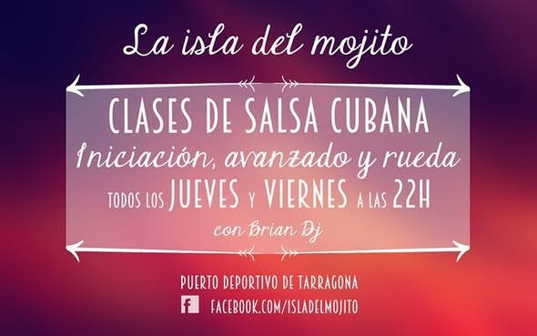 Viernes clases de salsa gratuitas y fiesta en La Isla del Mojito