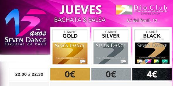 Bachata & Salsa Jam Session en Seven Dance (Barri de Gràcia)