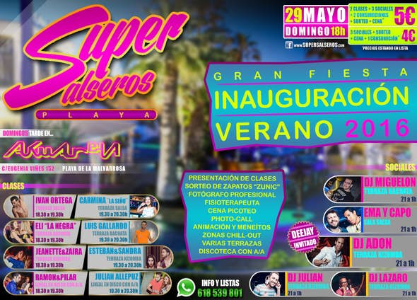 Inauguración SUPERSALSEROS PLAYA 29 Mayo