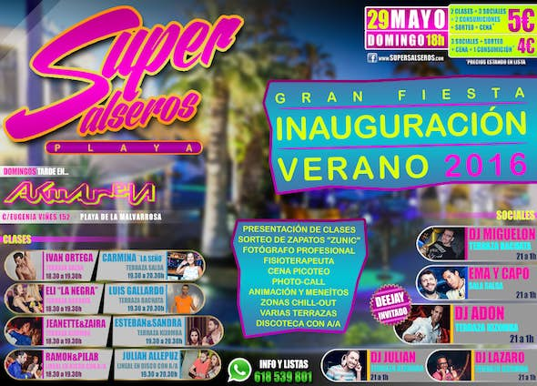 Opening SUPERSALSEROS BEACH May 29