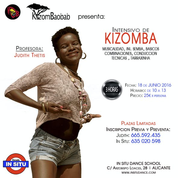 3h Kizomba Intensive, Estudio 9 | Ondara