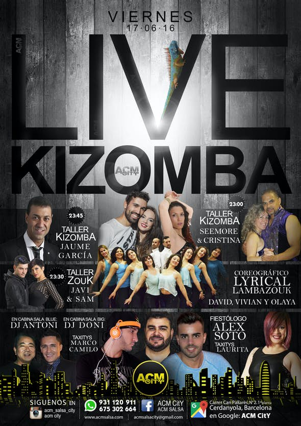 Viernes 17: LIVE KIZOMBA
