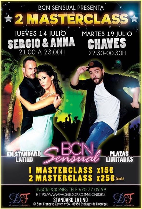 2 MASTER CLASS with Sergio & Anna and Luis Chaves
