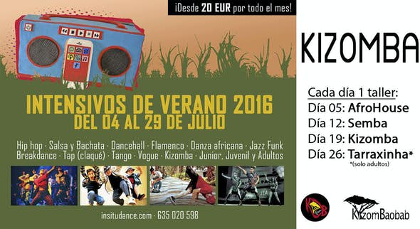 Intensivo de Verano * Kizomba * Julio 2016 en In Situ Dance School