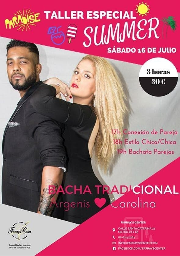 Bachata Workshop Especial Summer Farrays Center Bcn