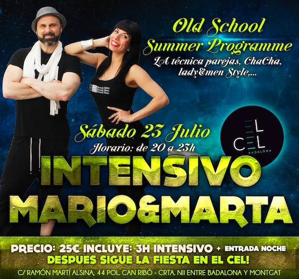 Intensive Workshop by Mario Layunta & Marta Chanels + Night party