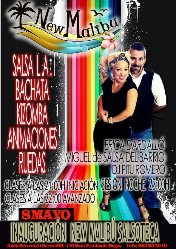Gran Inauguración de sesiones + clases de salsa en New Malibú Salsoteca