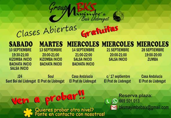 CLASES GRATUITAS DE PRUEBA