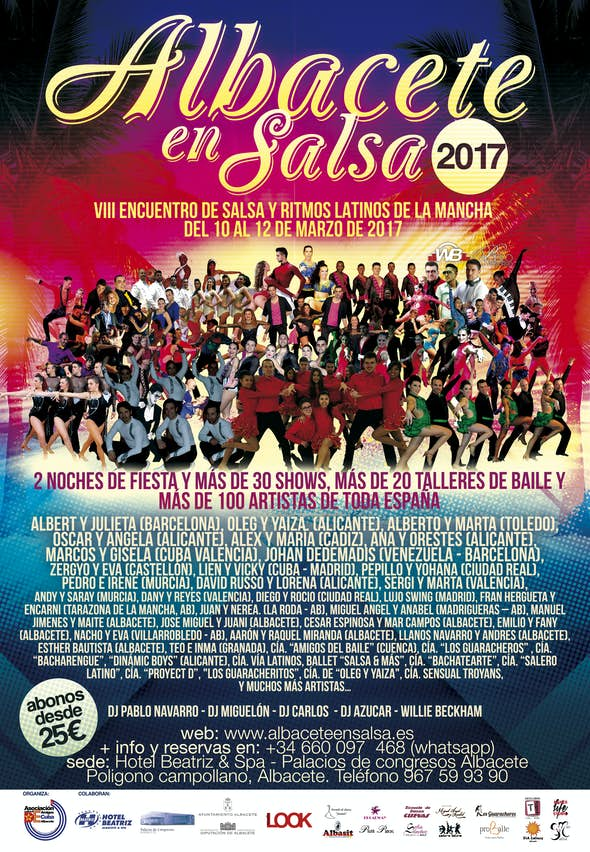 Albacete en Salsa 2017 - Encuentro Internacional de Salsa y Ritmos Latinos (8th Edition)