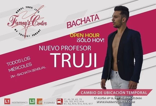 Free evento of Bachata Sensual withTruji at Farray's
