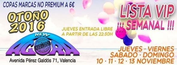 Lista VIP *3€* Viernes 11,Sábado 12, Domingo 13 Noviembre
