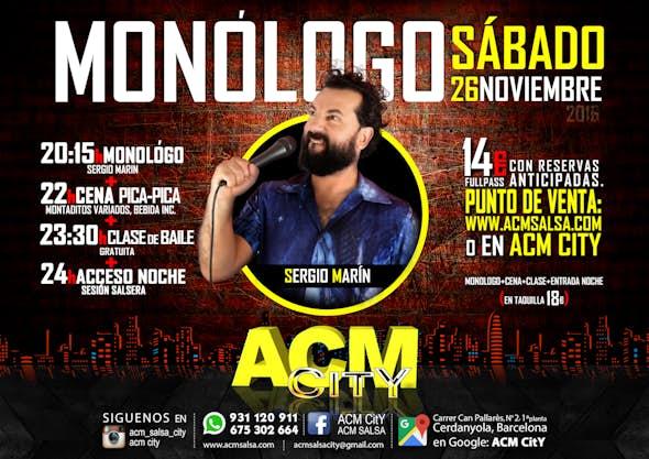 26 de Nov: Monólogo SERGIO MARIN