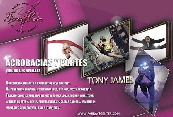 Acrobatics Classes with Tony James on Wednesdays