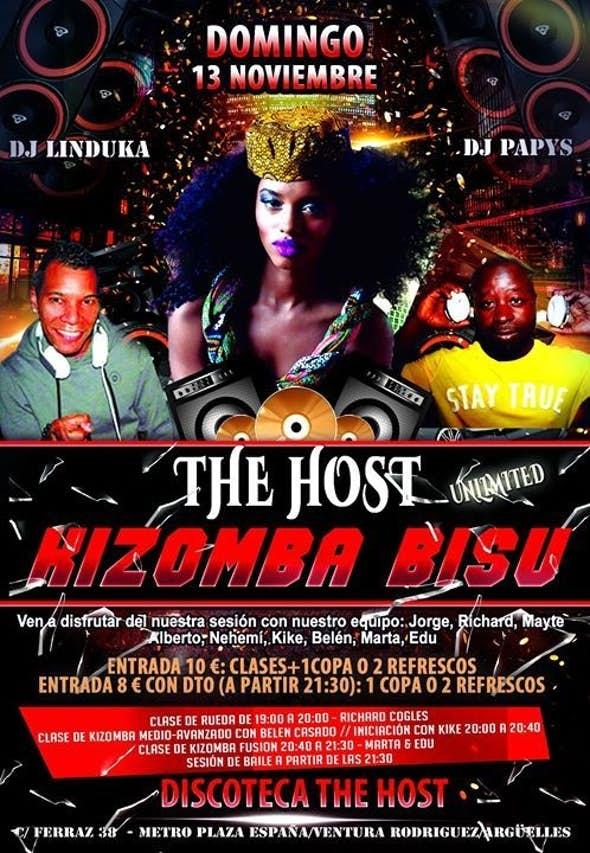 The Host Kizomba Bisú - Domingo 13 de Noviembre