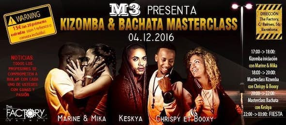 Kizomba & Bachata Masterclass + Party