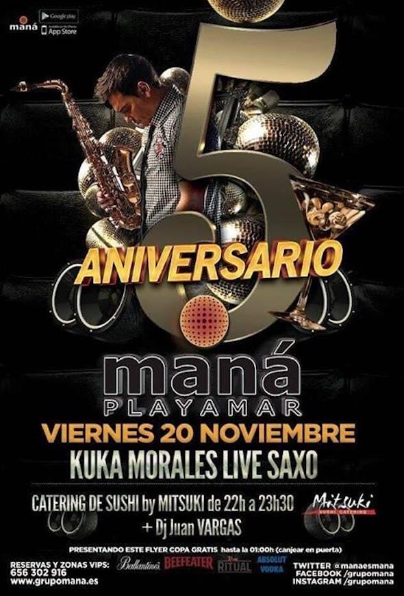 Fiesta 5 Aniversario Maná Playamar.
