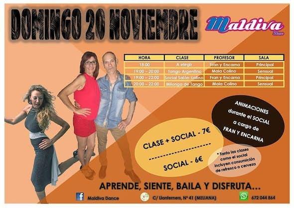 Bailes de Salon, latino + TANGO con MAIA Colino