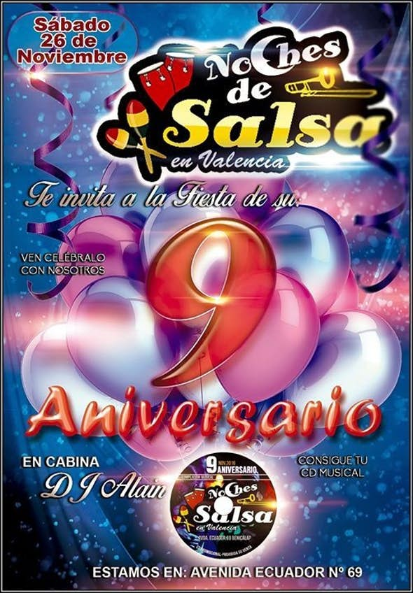 Friday and saturday entry only 3€ - 9th Anniversary Party