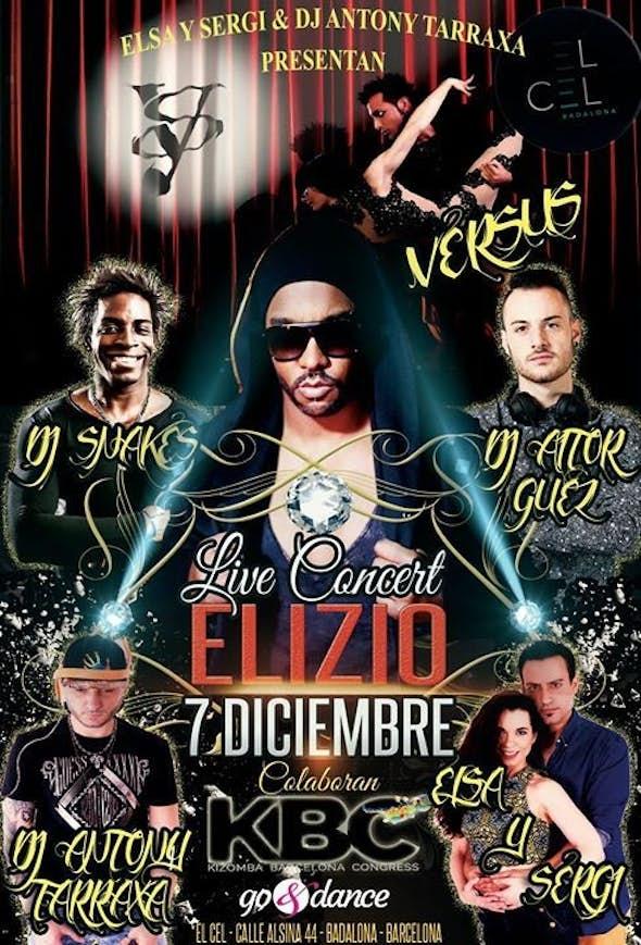 Live Concert Elizio, Kizomba Barcelona 7 December
