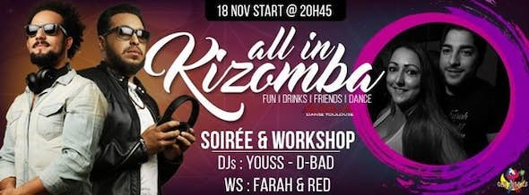 All In Kizomba ☆ DJs Youss•D-Bad☆ WS Urban Kiz : Farah & Red
