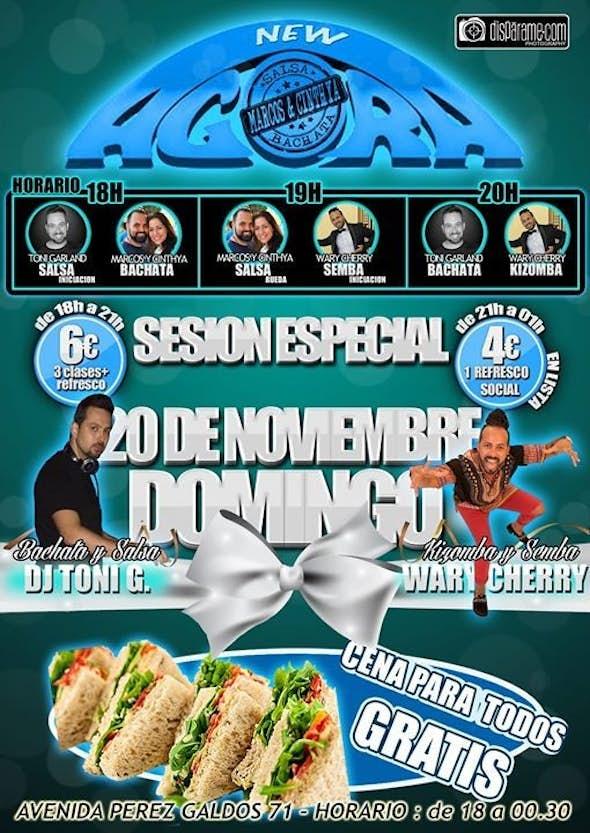 """LISTA VIP Domingo 20 de Noviembre """"Sundays Agora Party"""""""