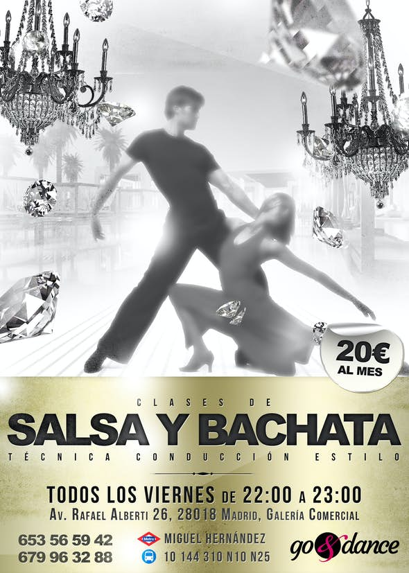 Salsa and Bachata classes in Vallecas
