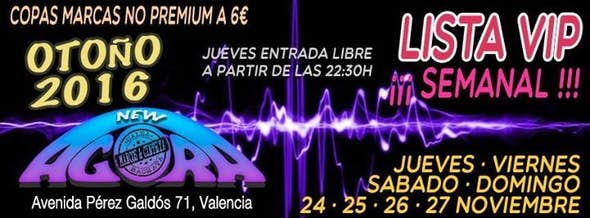"""Lista """"VIP"""" *3€*Viernes 25, Sabado 26, Domingo 27 De Noviembre"""