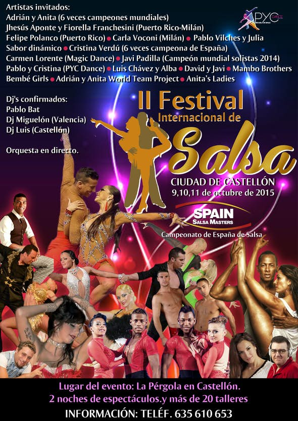 FESTIVAL DE SALSA CIUDAD DE CASTELLON - SPAIN SALSA MASTERS