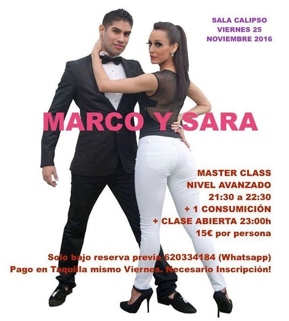 LATIN NIGHT MARCO Y SARA Sala Calipso Viernes 25 Nov.