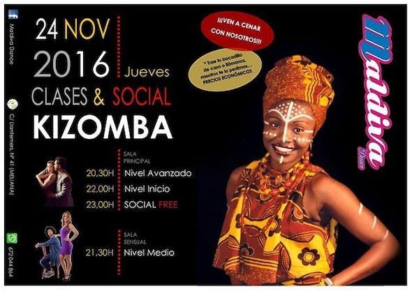 "Clases de Kizomba + social "" Gratis"""