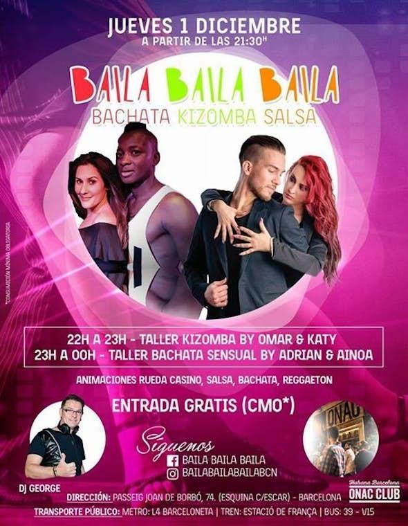Baila Baila Baila Opening party Bachata, Salsa y Kizomba en Barcelona