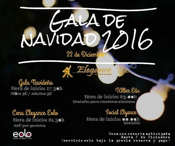 Gala De Navidad Elegance 2016
