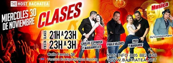 Miércoles 28 noviembre The Host Bachatea