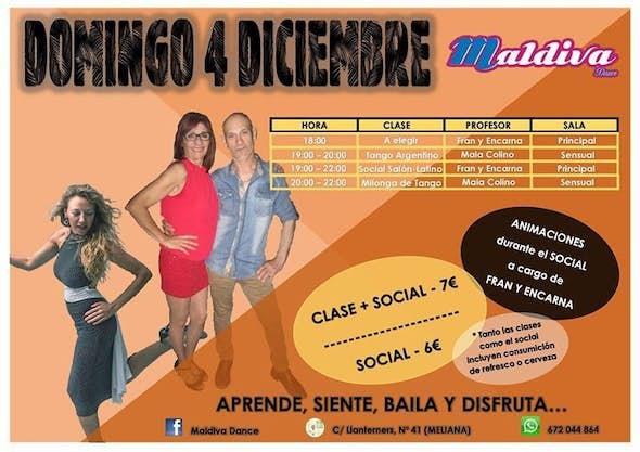 Social salon y latino + tango