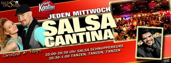 Salsa Cantina Party & Salsa Schnupperkurs in der NachtKantine