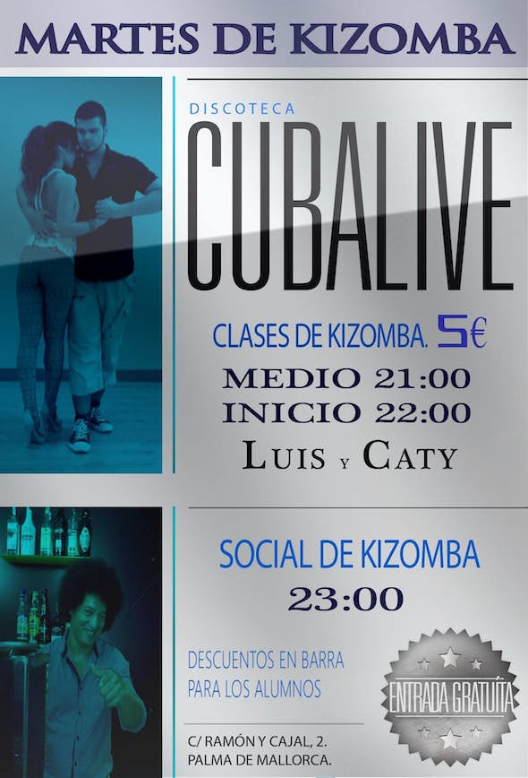 Kizomba tuesdays at cubalive