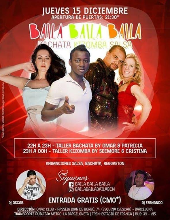 Talleres de Bachata & Kizomba (Workshop in Barcelona)