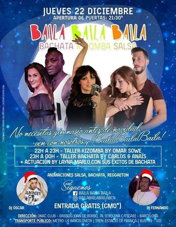 Pre-Christmas workshopr Kizomba & Bachata + Show live artista