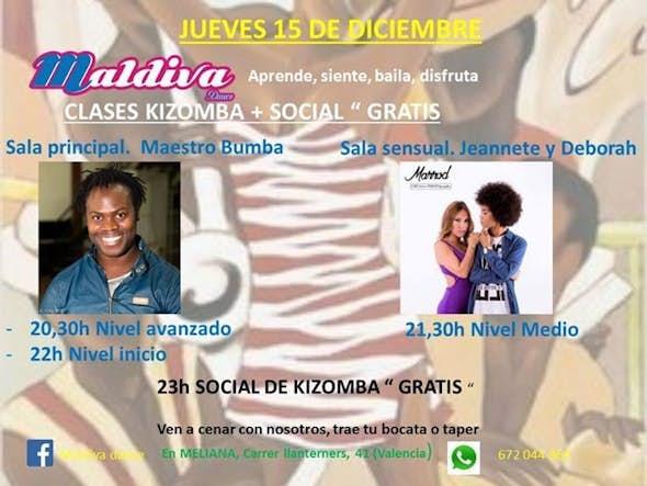 "Clases de kizomba + social "" Gratis """
