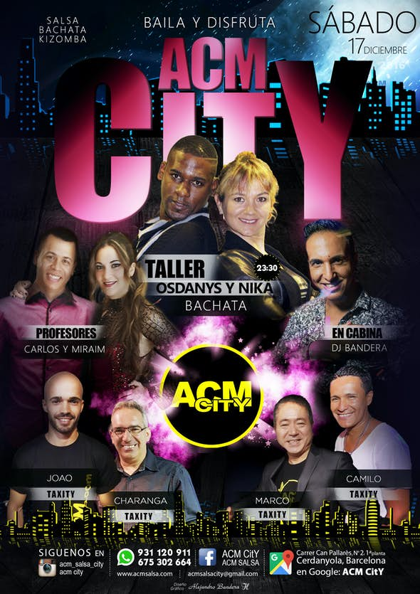 Sábado 17: BACHATA en ACM CitY